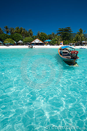 Traditional Boat Crystal Clear Water