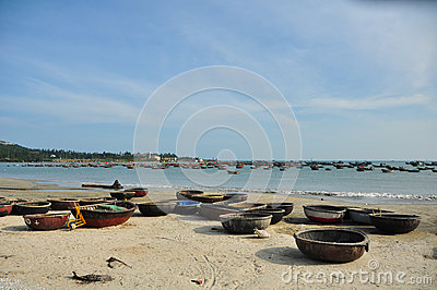 Traditional boats in Vietnam