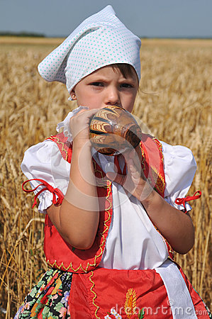 Traditional breakfast of wheat field