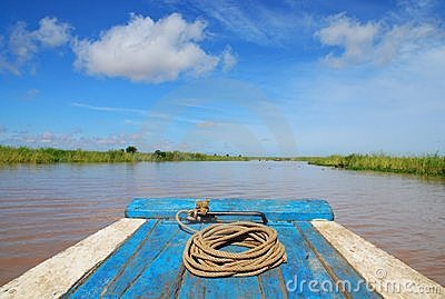 Traditional Cambodian Boat Royalty Free Stock Image - Image: 5796806