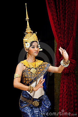 Free Traditional Cambodian Dance Stock Images - 15306614