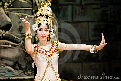 Traditional Cambodian Dance Editorial Photo