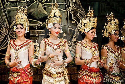 Traditional Cambodian Dance Editorial Stock Image