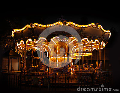 Traditional carousel empty