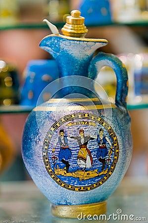 Traditional ceramic souvenirs on Crete