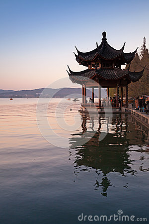 Free Traditional Chinese Ancient Pavilion, West Lake, Hangzhou Royalty Free Stock Images - 51068149
