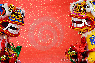 Traditional Chinese Dancing-lion