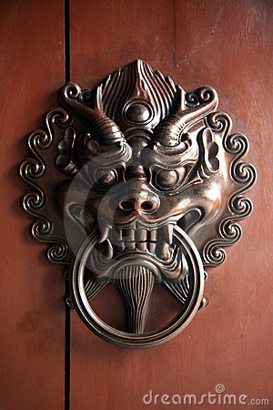 Traditional Chinese doorknockers