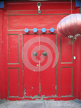 Traditional Chinese Doorway Red