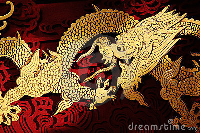 Traditional Chinese Dragon Painting Royalty Free Stock