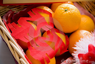 A traditional chinese gift basket