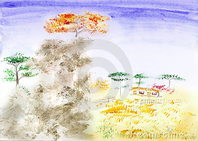 Traditional Chinese landscape