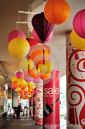 Traditional Chinese lanterns Editorial Image