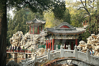 Traditional chinese park, Beijing