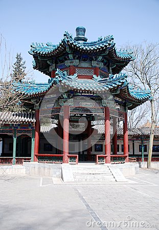 Traditional chinese pavilion