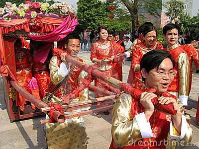 Traditional Chinese wedding celebration Editorial Photography