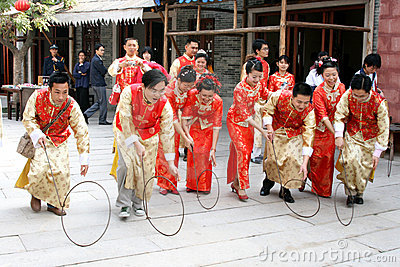 Traditional Chinese wedding celebration Editorial Stock Photo