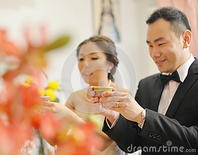 Traditional Chinese wedding tea ceremony