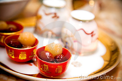Traditional chinese wedding tea ceremony cutlery