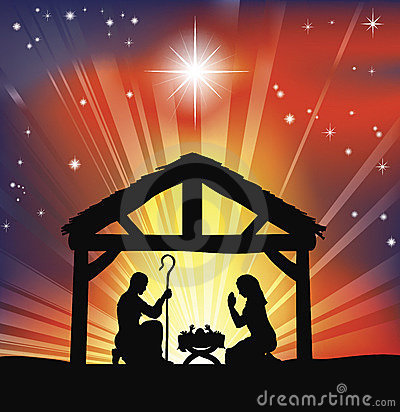 Free Traditional Christian Christmas Nativity Scene Stock Images - 18963154