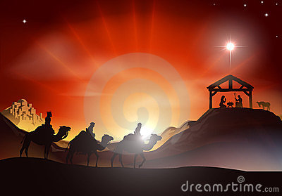 Royalty Free Stock Image: Traditional Christmas Nativity Scene. Image: 23636586
