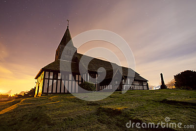 Traditional Church at night