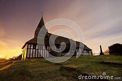 Traditional Church at night