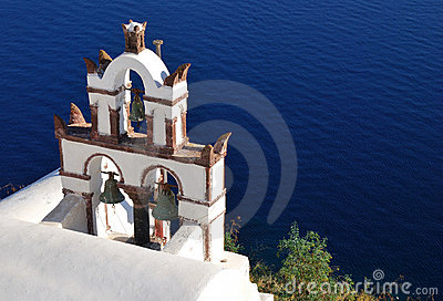 Traditional church in Santorini island, Greece