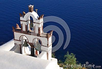 Traditional church in Santorini island, Greece