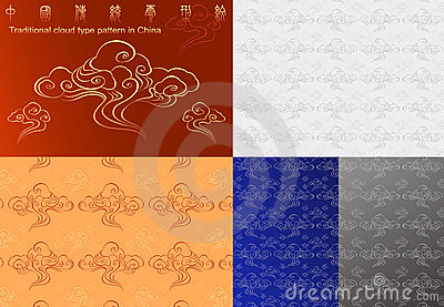Traditional cloud type pattern in China