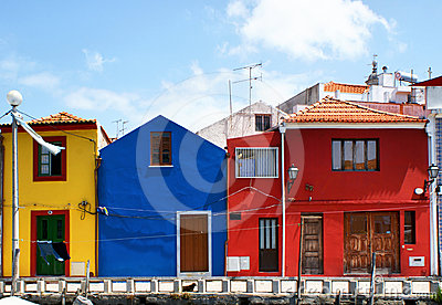 Traditional colorful houses in Aveiro
