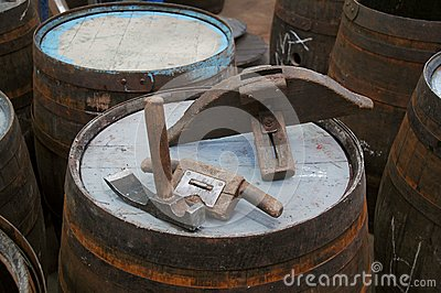 Traditional cooperage tools