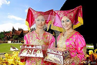 Traditional Costume of Minangkabau Editorial Photo