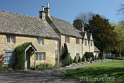 Traditional cottages in Lower Slaughter, Cotswolds