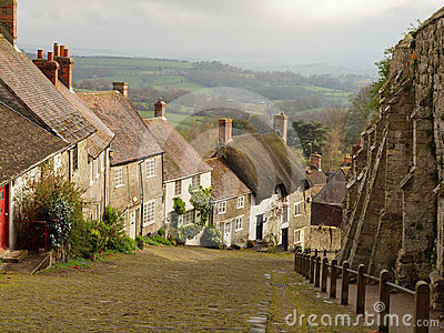 Traditional Cottages in Shaftesbury, England