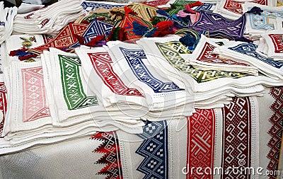 Traditional Croatia embroidery souvenir