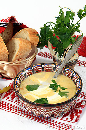 Traditional cuisine from Romania: tripe soup