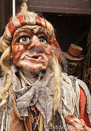 Traditional Czech Witch Puppet