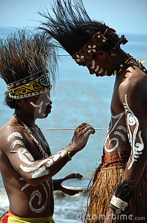 Traditional Dancer of Papua Editorial Stock Photo