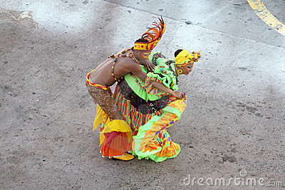 Traditional dancers in Cartagena, Colombia Editorial Stock Photo