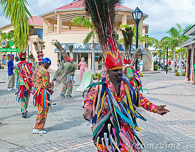 Traditional dancers in St. Kitts Editorial Photography