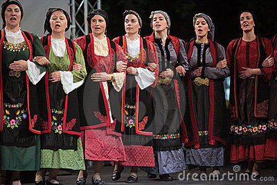 Traditional dances of Thrace Editorial Stock Photo