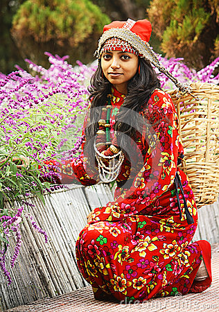 A Traditional Darjeeling girl Editorial Stock Photo