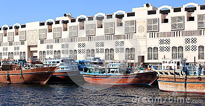 Traditional Dhows in Dubai Creek