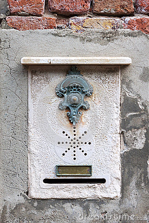 Free Traditional Doorbell In Venice Stock Photography - 56525842