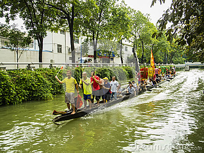 Traditional Dragon boat in Guangzhou Editorial Photography