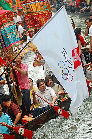 Traditional dragonboat Editorial Image