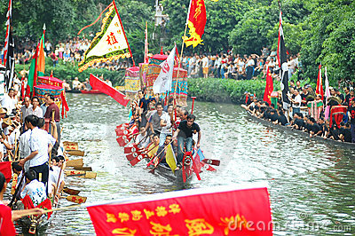 Traditional dragonboat Editorial Stock Image