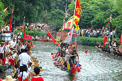 Traditional dragonboat Editorial Stock Photo