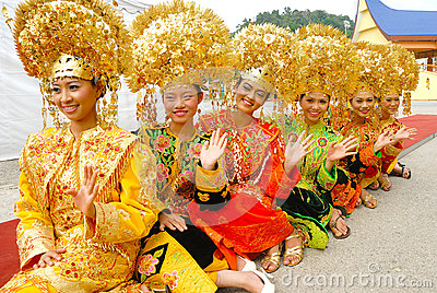 Traditional dress of Minangkabau Editorial Image